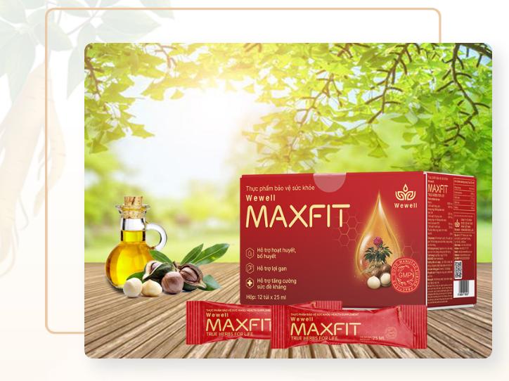 Hạt Macca trong Maxfit cung cấp protein và chất béo thực vật cực tốt.